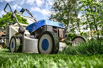 Lawn-Mower Mowing Grass
