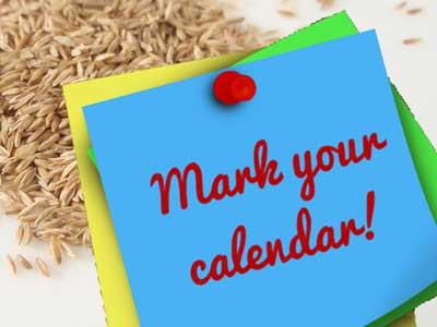 Mark Calendar for Fall Seeding